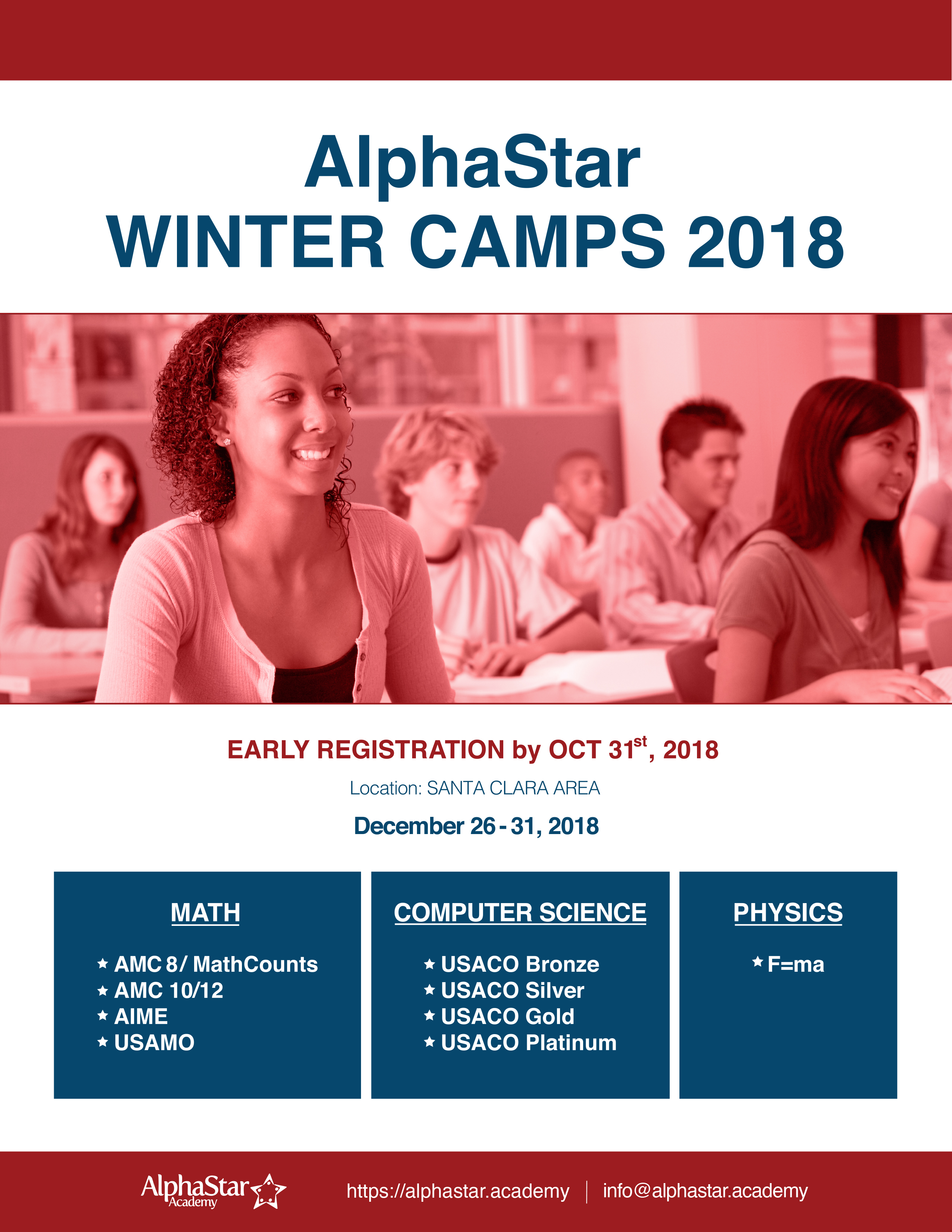 2018 Winter Math Camp Tri-Valley | AlphaStar Academy